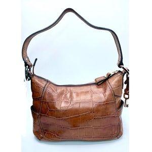 {Fossil} Crocodile Embossed Shoulder Bag